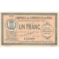Foix - Pirot 59-10 - 1 franc - Etat : SUP