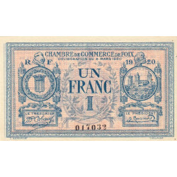Foix - Pirot 59-15 - 1 franc - Etat : SUP