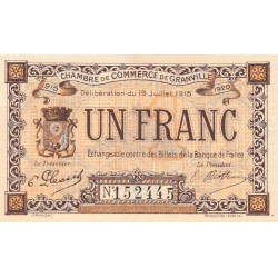 Granville - Pirot 60-01 - 1 franc - Etat : NEUF
