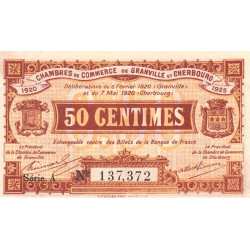 Granville / Cherbourg - Pirot 61-01-A - 50 centimes