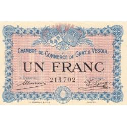 Gray / Vesoul - Pirot 62-03 - 1 franc - Etat : SUP+