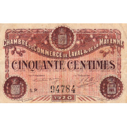 Laval (Mayenne) - Pirot 067-01-P - 50 centimes