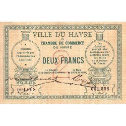 Le Havre - Pirot 68-07 - 2 francs - Etat : TB+