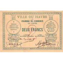 Le Havre - Pirot 68-07 - 2 francs - Etat : TTB+