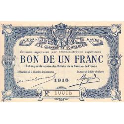 Le Havre - Pirot 68-15 - 1 franc - Etat : SUP+