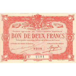 Le Havre - Pirot 68-16 - 2 francs - Etat : SPL+