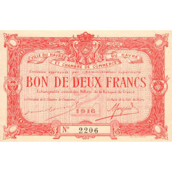 Le Havre - Pirot 68-16 - 2 francs - Etat : SPL