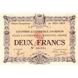 Avignon - Pirot 18-8 - 2 francs - 1915 - Etat : TB