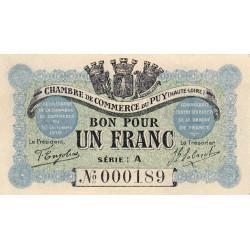 Le Puy (Haute-Loire) - Pirot 070-03-A - 1 franc