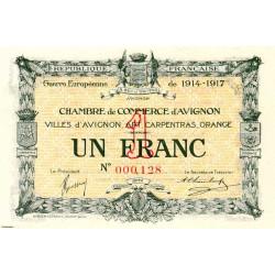 Avignon - Pirot 18-17b - 1 franc - Petit numéro - 1915 - Etat : NEUF
