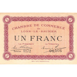 Lons-le-Saulnier - Pirot 74-13 - 1 franc - Etat : SUP+