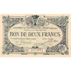 Lorient (Morbihan) - Pirot 75-16 - 2 francs