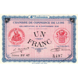 Lure - Pirot 76-28 - 1 franc - Etat : SUP+