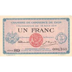 Lyon - Pirot 77-1b - 1 franc - Etat : TTB+