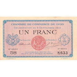 Lyon - Pirot 77-6-2 - 1 franc