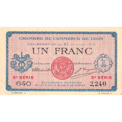 Lyon - Pirot 77-10-3 - 1 franc - Etat : SUP