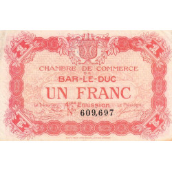 Bar-le-Duc - Pirot 19-15 - 1 franc - Etat : TTB-