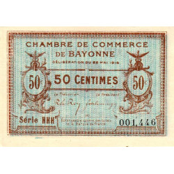 Bayonne - Pirot 21-24 - 50 centimes - Etat : SUP+