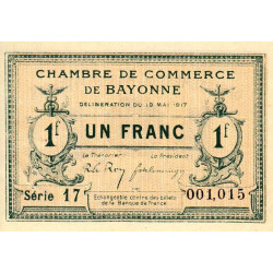 Bayonne - Pirot 21-45 - 1 franc - Etat : SUP