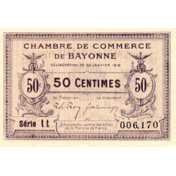 Bayonne - Pirot 21-55 - 50 centimes - Etat : SPL